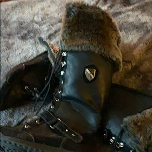 Baby Phat black boots never worn size 8